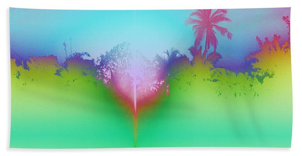 Color Silhouette Bath Sheet featuring the photograph Goan Skyline by Usha Shantharam