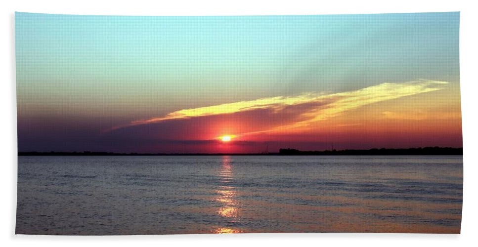 Sunsets Hand Towel featuring the photograph Gods Creation by Debra Forand