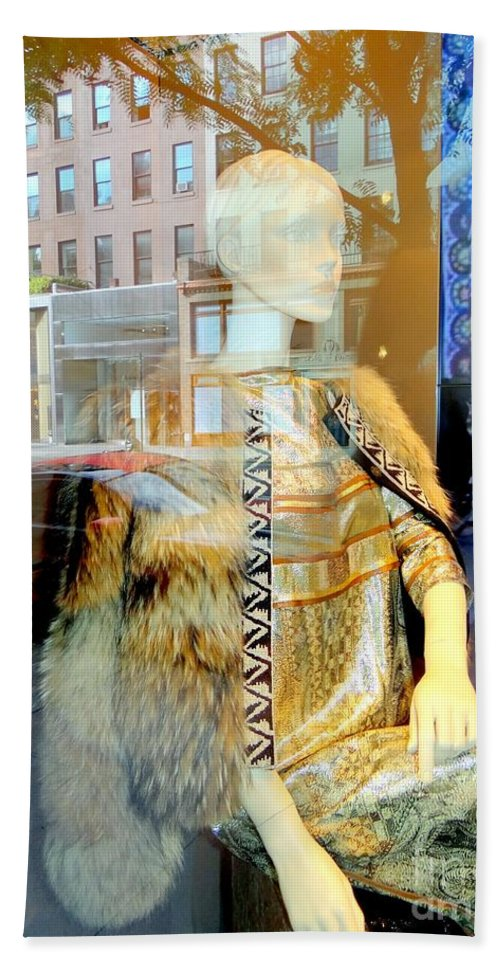 Mannequins Bath Sheet featuring the photograph Gold Glamour by Ed Weidman