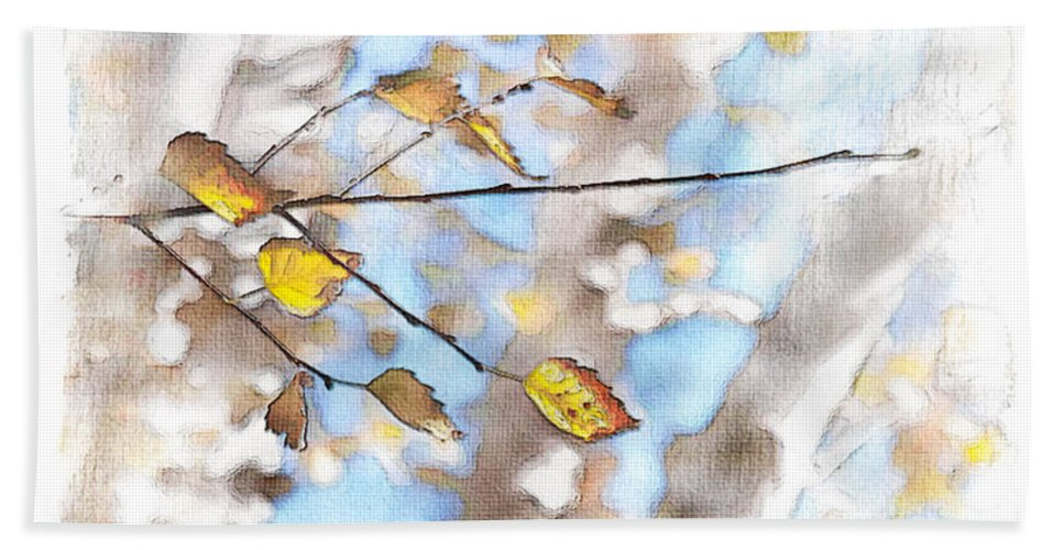 Birch Hand Towel featuring the photograph Golden Birch by Caitlyn Grasso