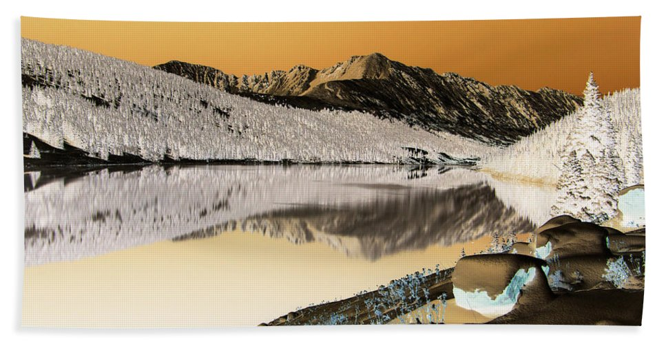 Colorado Bath Sheet featuring the photograph Golden Blues by Jeremy Rhoades