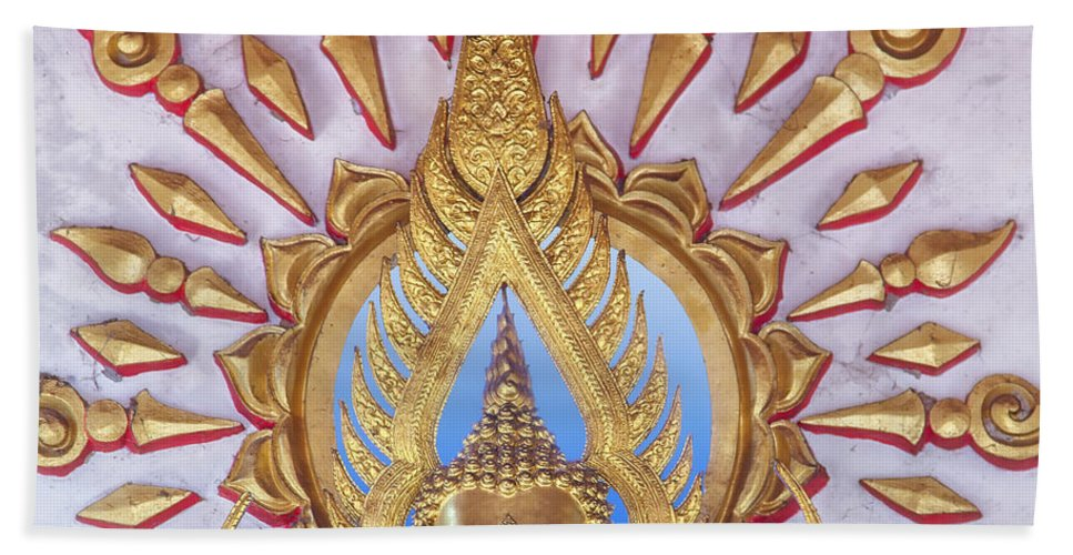 Religion Hand Towel featuring the photograph Golden Buddha Statue by Sophie McAulay