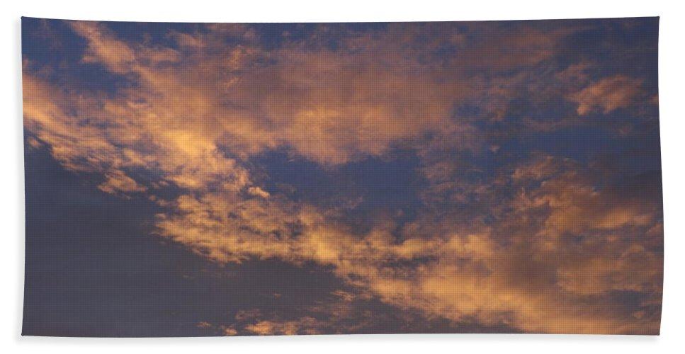 Sunset Hand Towel featuring the photograph Golden Cloud Sunset by Jussta Jussta