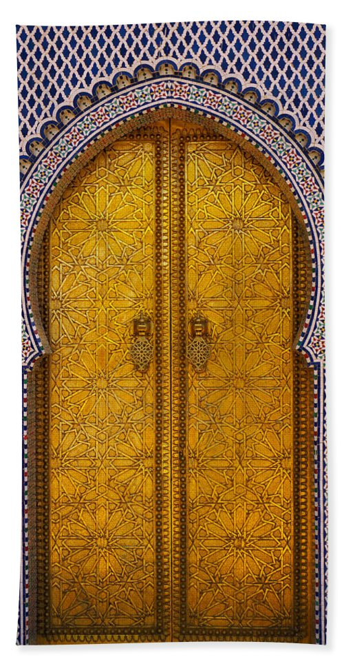 Africa Bath Sheet featuring the photograph Golden Door by Ivan Slosar