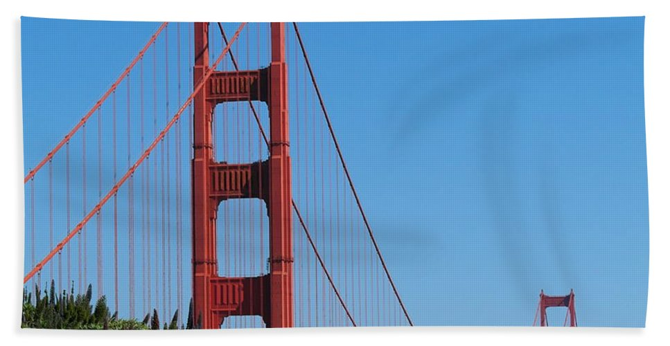 San Francisco Bath Sheet featuring the photograph Golden Gate Bridge In Spring by Michele Myers
