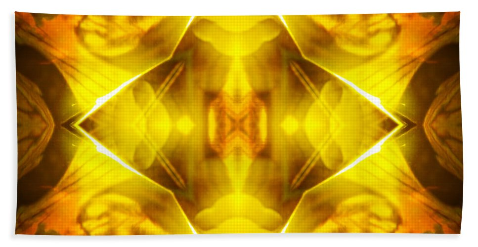Gold Bath Sheet featuring the photograph Golden Harmony by Shawna Rowe