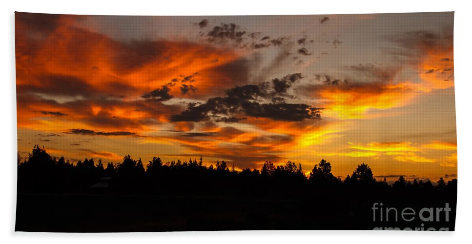 Sunset Hand Towel featuring the photograph Golden View by Robert Bales