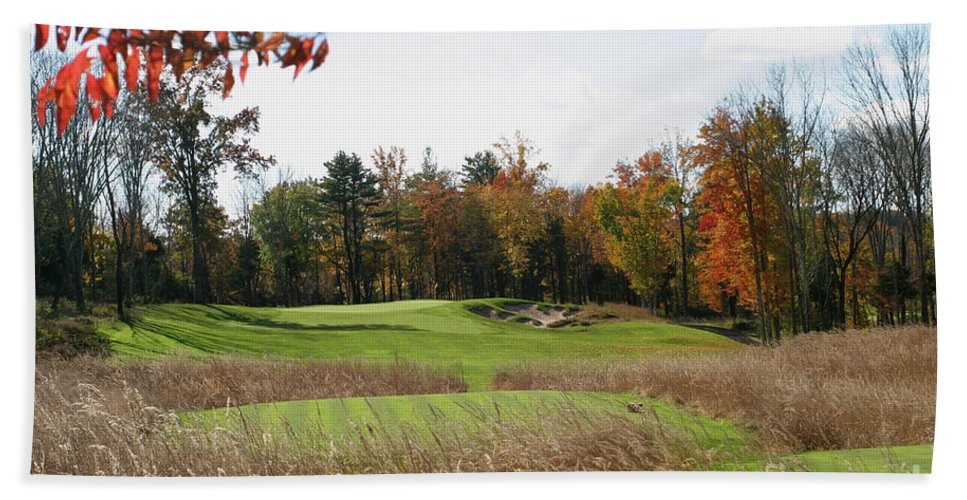 Golf Bath Sheet featuring the photograph Golf Anyone? by Living Color Photography Lorraine Lynch