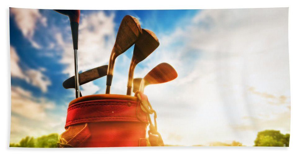Golf Hand Towel featuring the photograph Golf Equipment by Michal Bednarek