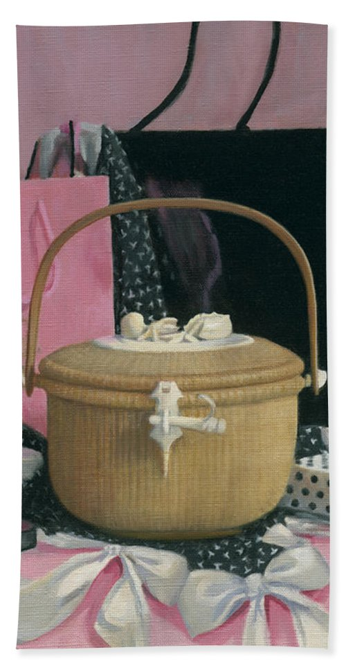 Light Ship Basket Bath Sheet featuring the painting Good And Plenty Nantucket by Candace Lovely