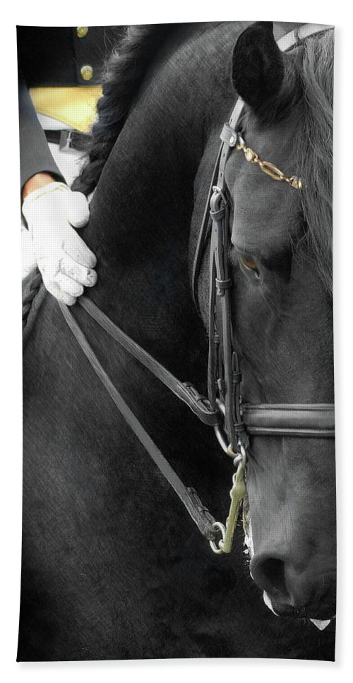 Friesian Competition Bath Towel featuring the photograph Good Boy by Fran J Scott