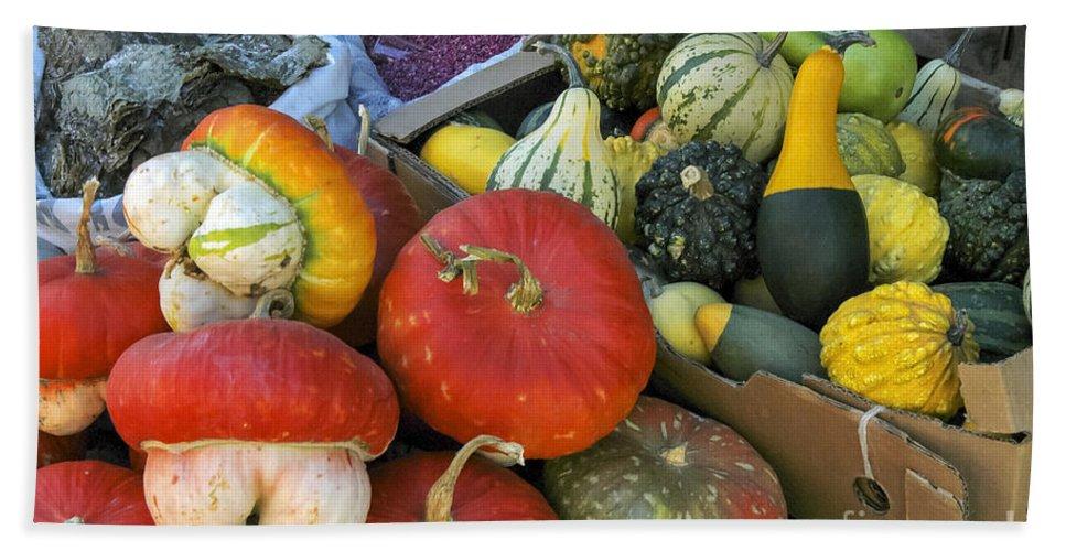 Fruit And Vegetable Market Safranbolu Turkey Food Foods Fruits Markets Vegetables Squash Markets Bath Sheet featuring the photograph Good Eats by Bob Phillips