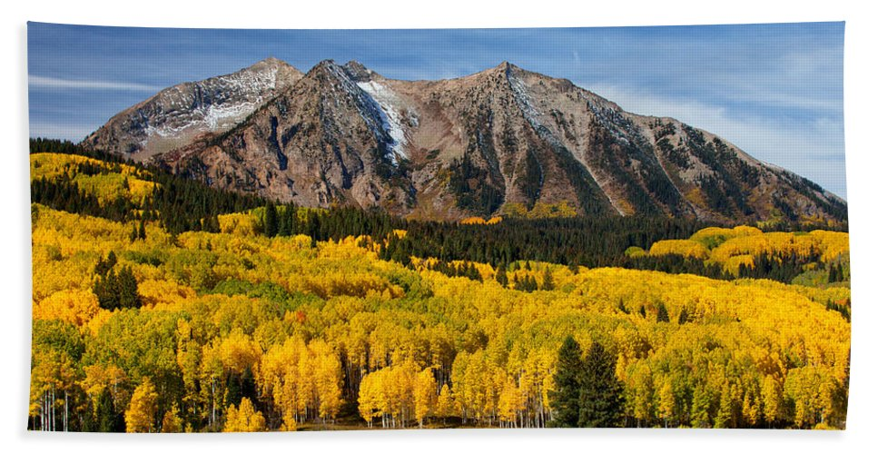 Colorado Landscapes Bath Sheet featuring the photograph Good Morning Colorado by Darren White