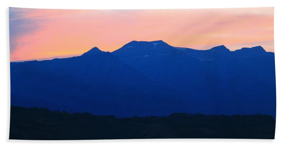 Sunset Hand Towel featuring the photograph Good Night Grand Teton by Catie Canetti
