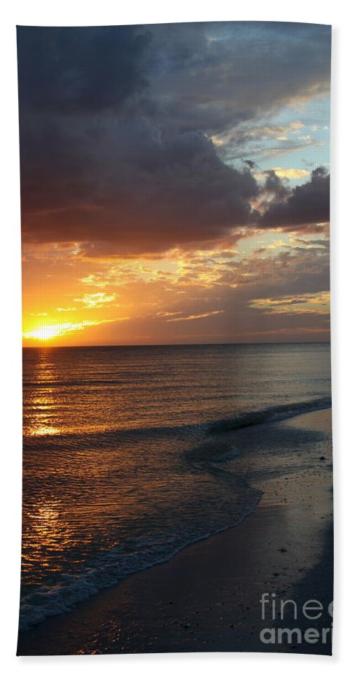 Coast Hand Towel featuring the photograph Good Night Sanibel Island by Christiane Schulze Art And Photography