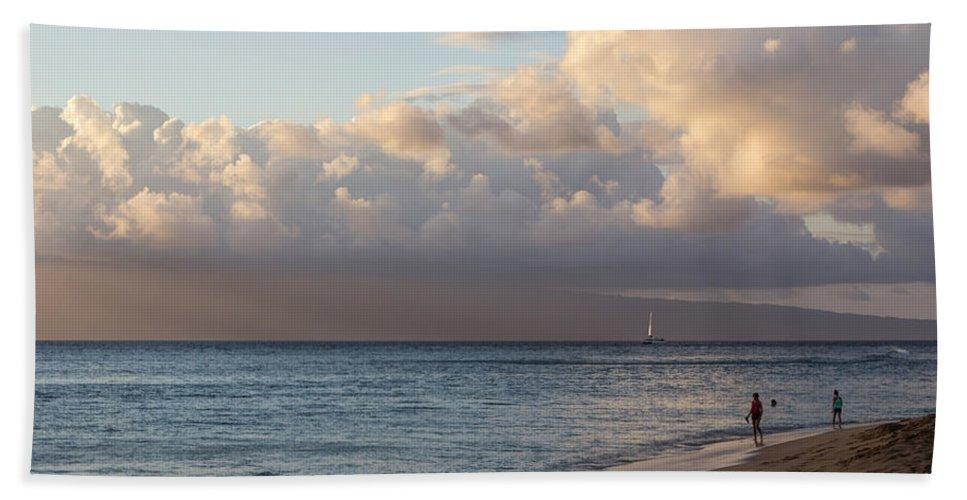 Beach Bath Sheet featuring the photograph Good Times On Maui by Heidi Smith