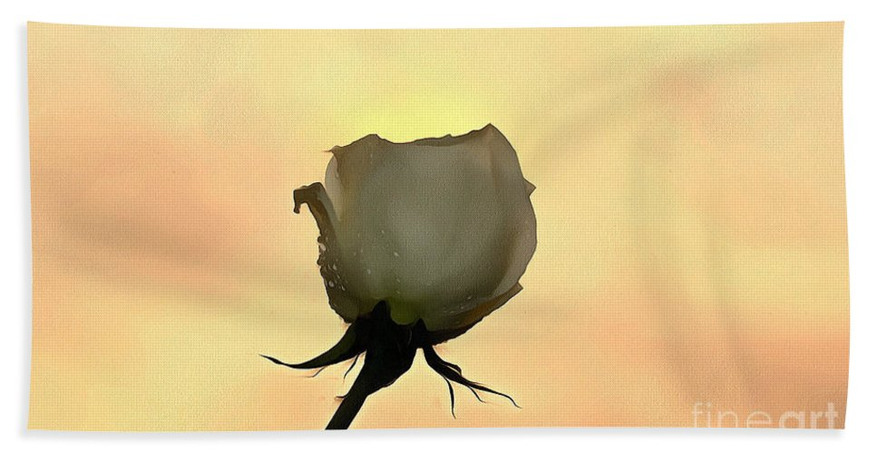 Rose Hand Towel featuring the photograph Goodbye by Krissy Katsimbras