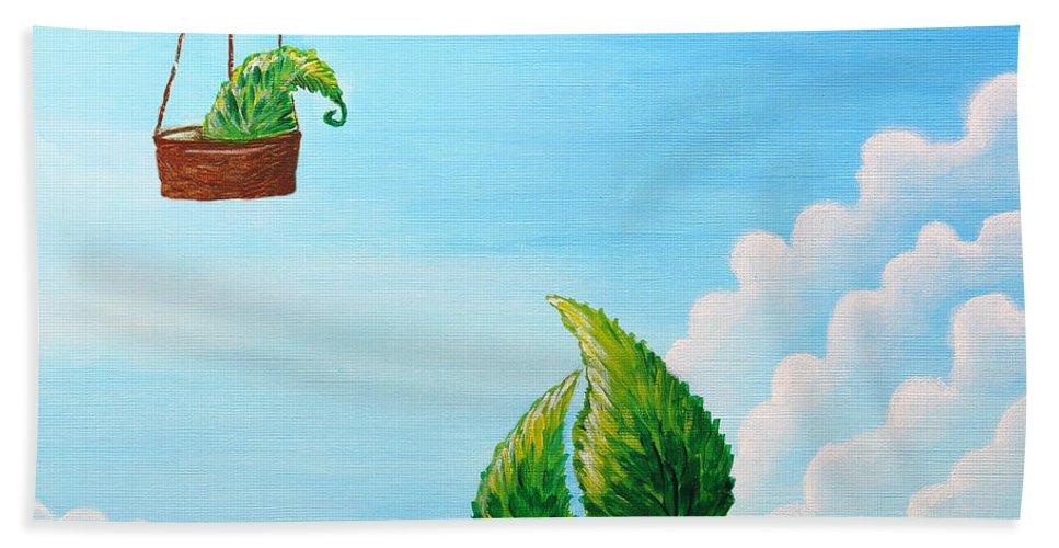 Painting Bath Sheet featuring the painting Goodbye by Nirdesha Munasinghe