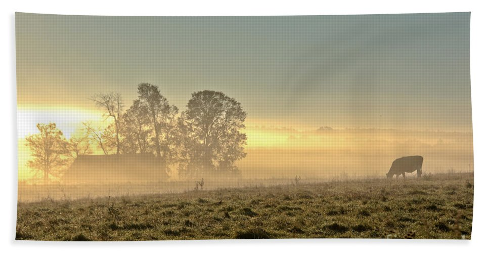 Bath Sheet featuring the photograph Gorgeous Morning On The Farm by Cheryl Baxter