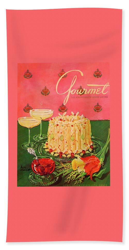 Illustration Bath Towel featuring the photograph Gourmet Cover Illustration Of A Molded Rice by Henry Stahlhut