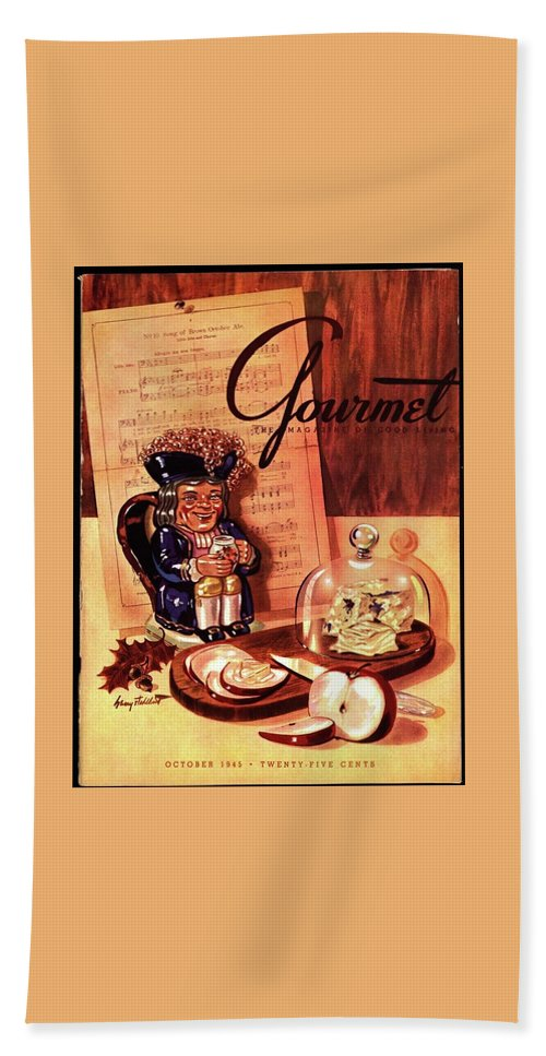 Gourmet Cover Illustration Of A Tray Of Cheese Bath Towel