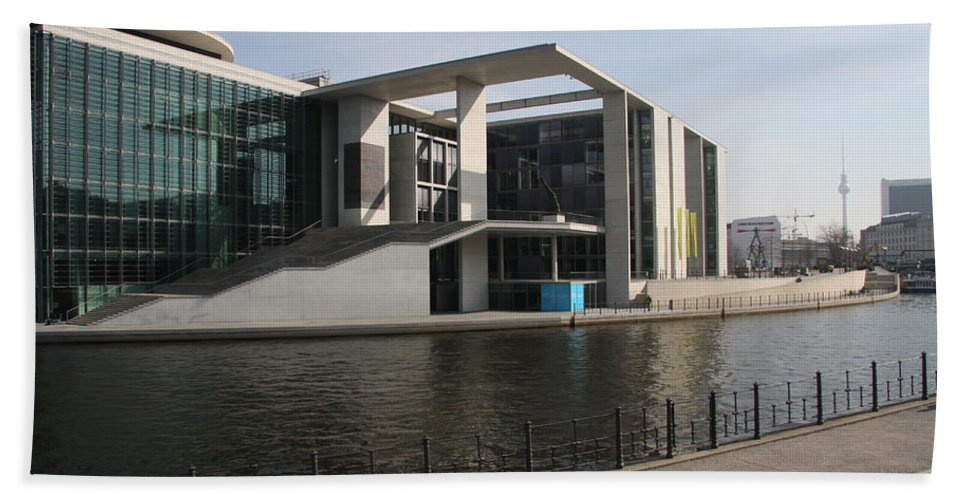 Government Building Bath Sheet featuring the photograph Government Building Berlin by Christiane Schulze Art And Photography