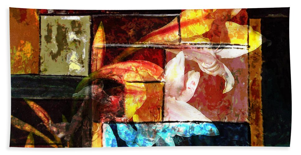 Abstract Hand Towel featuring the digital art Gracefull by Yael VanGruber