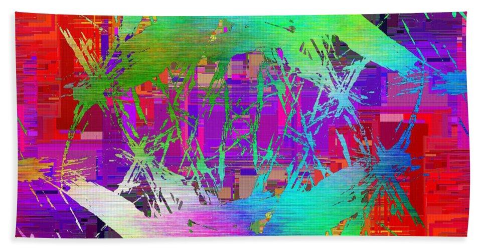 Graffiti Bath Towel featuring the digital art Graffiti Cubed 2 by Tim Allen