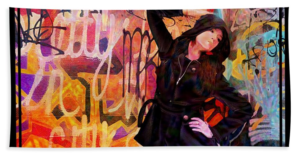 Model Hand Towel featuring the photograph Grafitti Lovely by Alice Gipson