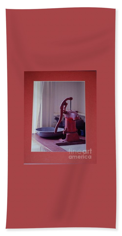 Pump Hand Towel featuring the photograph Grama's Faucet by Sharon Elliott