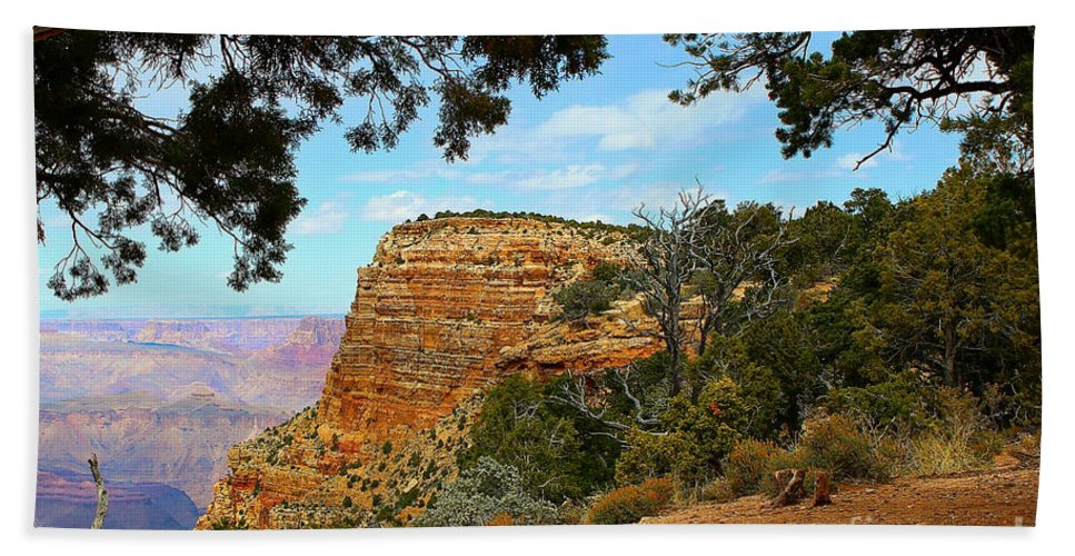 Canyons Hand Towel featuring the photograph Grand Canyon - South Rim by Barbara Zahno