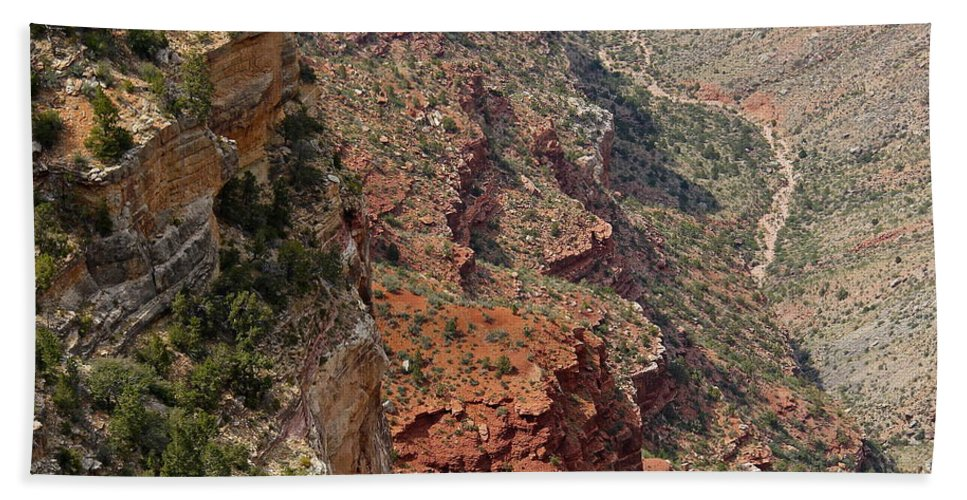 Grand Canyon Hand Towel featuring the photograph Grand Canyon Colorado River by Denise Mazzocco