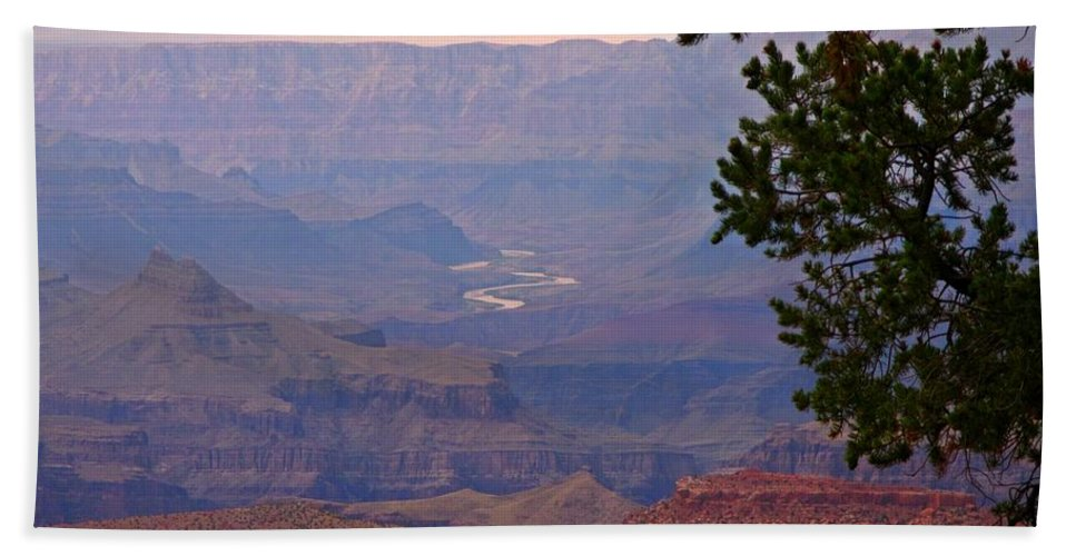 Landscape Canvas Print Hand Towel featuring the photograph Grand Canyon Landscape One by John Malone