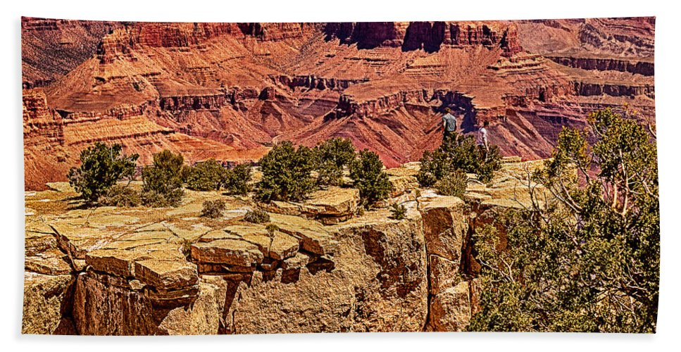 Angel Bath Sheet featuring the photograph Grand Canyon National Park South Rim by Bob and Nadine Johnston