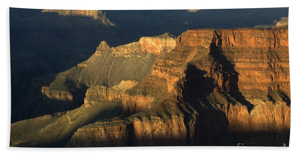 Grand Canyon Bath Sheet featuring the photograph Grand Canyon Symphony Of Light And Shadow by Bob Christopher