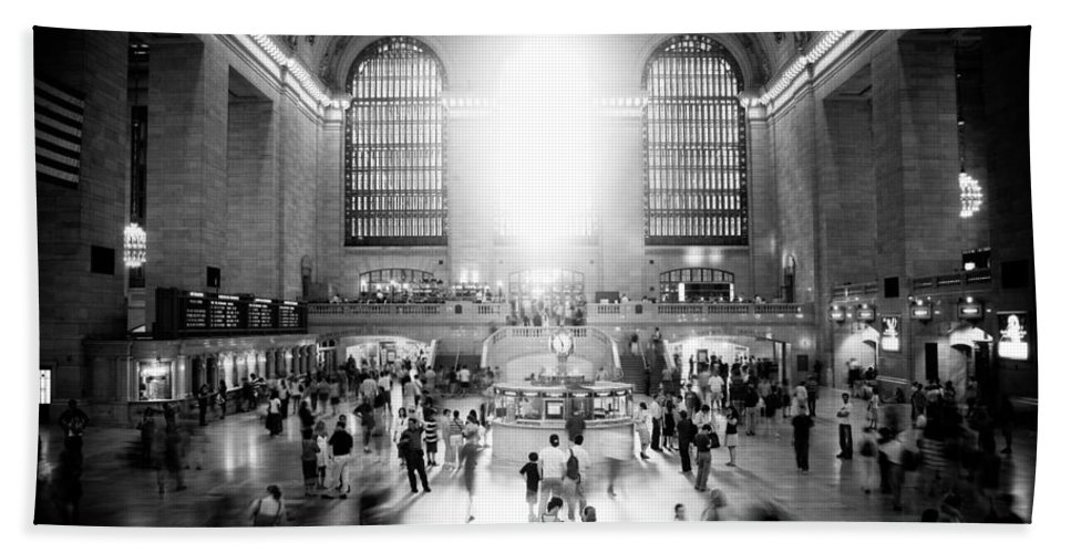 Grand Central Station Hand Towel featuring the photograph Grand Central Station by Georgia Fowler