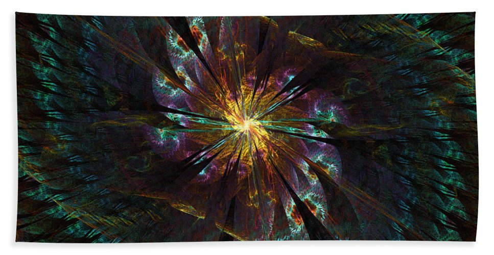 Spiral Bath Sheet featuring the digital art Grand Dame by Kiki Art