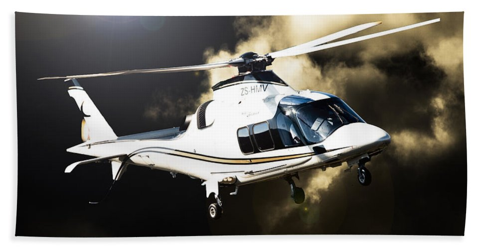 Agusta A109s Grand Bath Sheet featuring the photograph Grand Flying by Paul Job