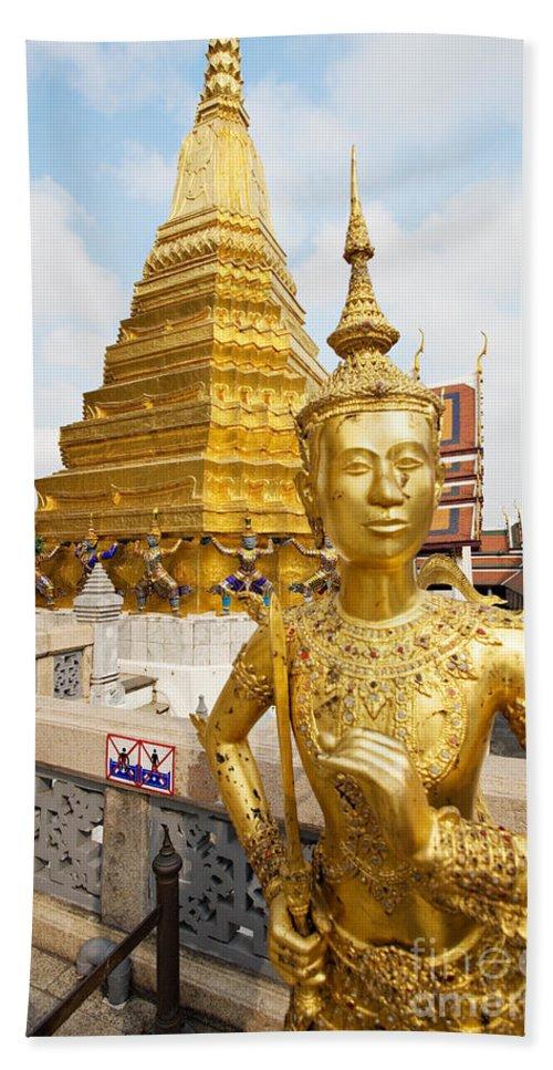 Thailand Art Bath Sheet featuring the photograph Grand Palace, Bangkok by David Davis