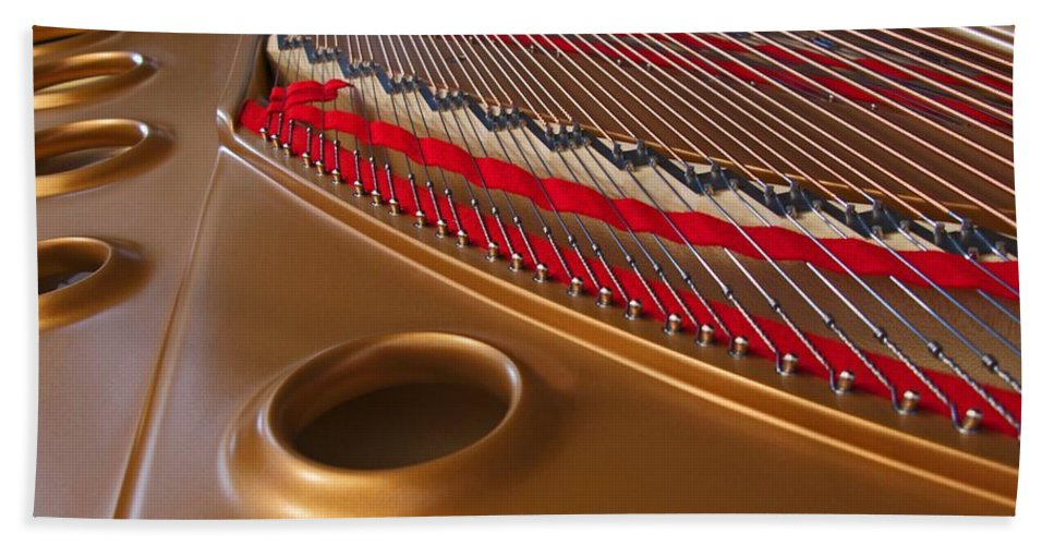 Piano Hand Towel featuring the photograph Grand Piano by Ann Horn
