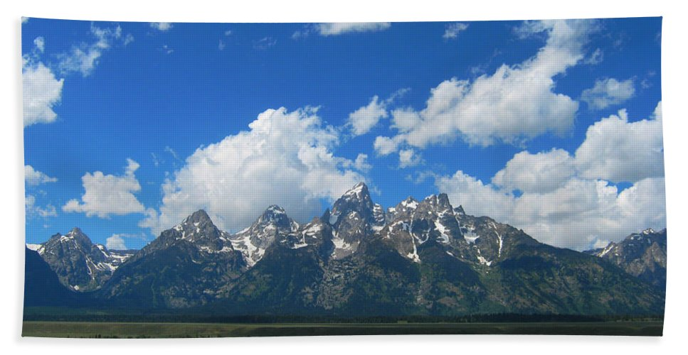 Mountains Bath Sheet featuring the photograph Grand Teton National Park by Janice Westerberg