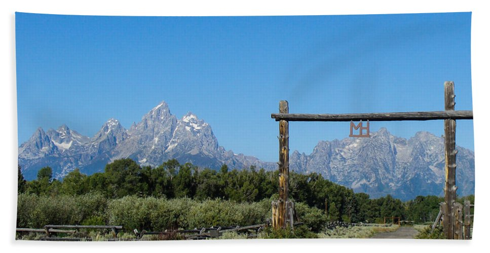 Ranch Hand Towel featuring the photograph Grand Teton Ranch by Stacy Abbott