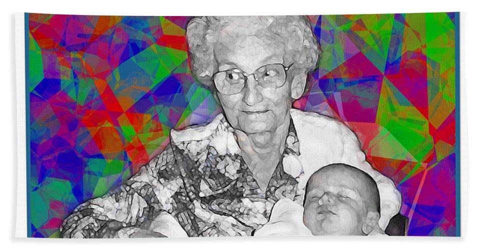Portrait Bath Sheet featuring the photograph Grandma And Rose by Joan Minchak