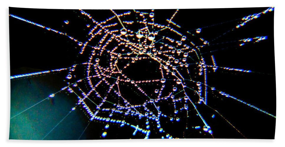 Spider Web Bath Sheet featuring the photograph Grandmother Spider's Dream Catcher by Paula OMalley
