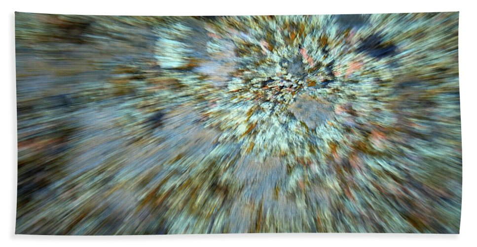 Psychedelic Bath Sheet featuring the photograph Granite Dreams by Ric Bascobert