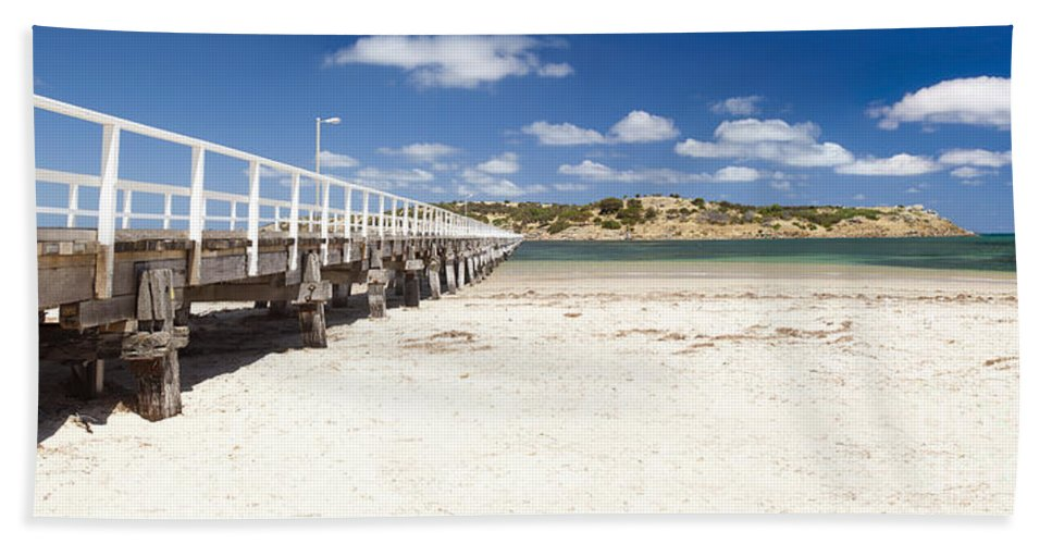 South Australia Bath Sheet featuring the photograph Granite Island by Tim Hester