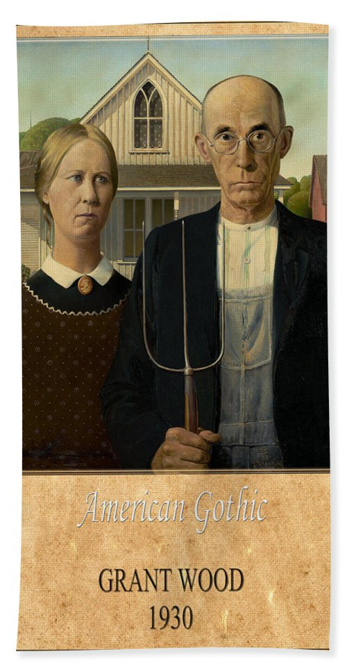 Grant Wood Hand Towel featuring the photograph Grant Wood 1 by Andrew Fare