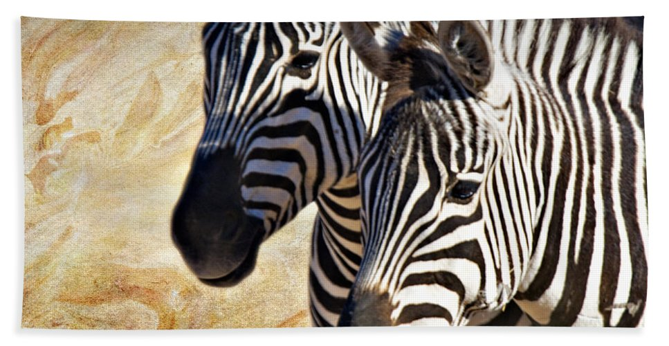 Grant's Zebra Bath Sheet featuring the photograph Grant's Zebras_b1 by Walter Herrit