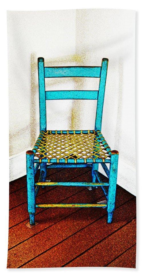 Chair Bath Sheet featuring the photograph Granular Blue by Holly Blunkall
