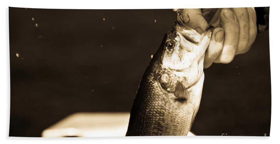 Fish Hand Towel featuring the photograph Great Catch by Cheryl Baxter